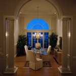 Formal Dining Room at Night