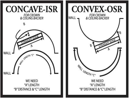 Concave Convex-Crown Moulding