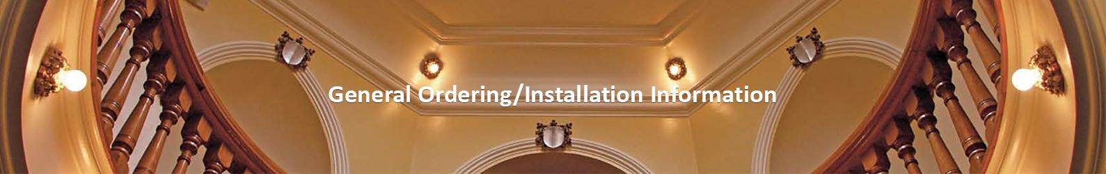 Ordering Installation Information